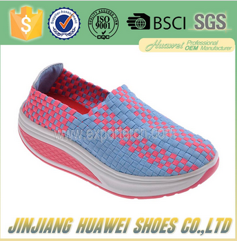 beautiful woven elastic shoes ,made by hand for comfortable women shoes