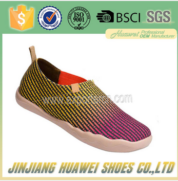 colorful canvas women casual shoes made from China Jinjiang huawei shoes company