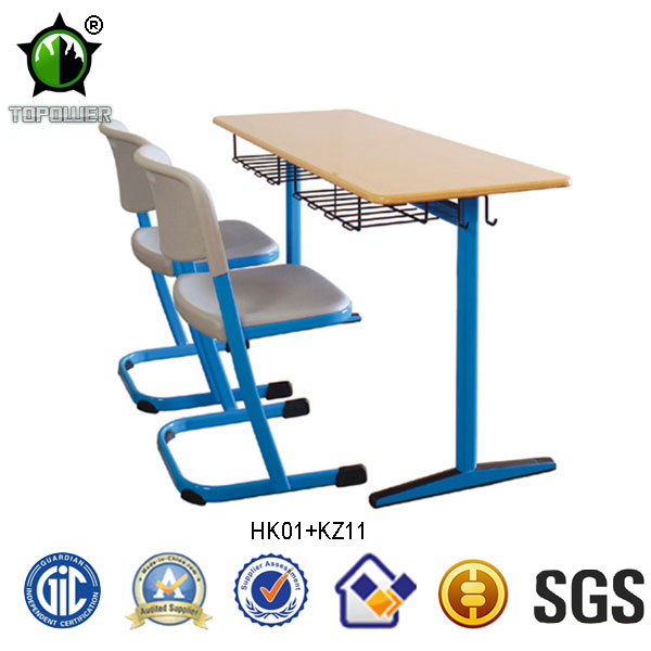 Double School Student Desk and Chair