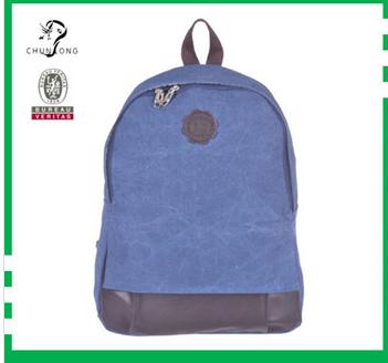 2014 Cute Khaki Blank Canvas Backpack