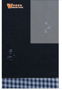 heavy double layer denim fabric jeans fabric