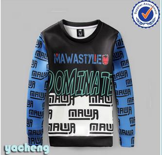 wholesale crewneck hoodie mens 3d printing pullovers thick fleece sweater shirt outdoor custom printing hoodie