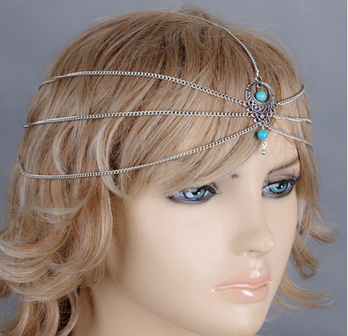Europe crystal stone hair band hairbands for girls