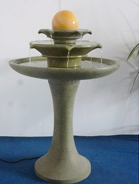 Outdoor decoration three layers resin water basin garden fountain