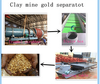 sand gravel separator trommel scrubber & sluice box & shaking table