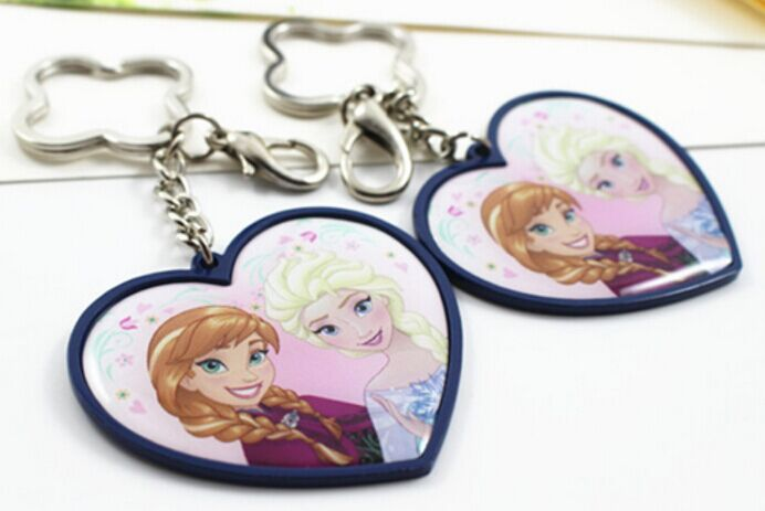 cuatomer zinc alloy metal picture frame keychain