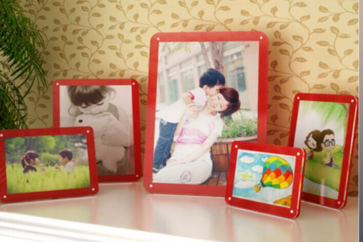speciallized acrylic 2 side digital picture photo frame