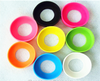 Customized colorful silicone heat insulation anti-slip vacuum cup cover