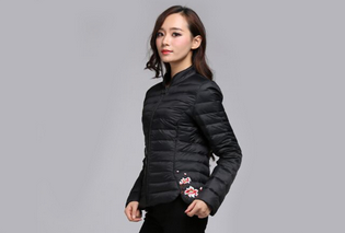 OEM Design Hot sales outdoor waterproof zip women's down jacket