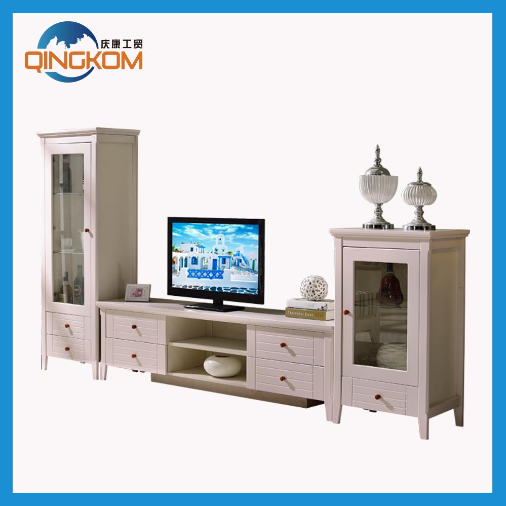 Modern white high glossy sideboard