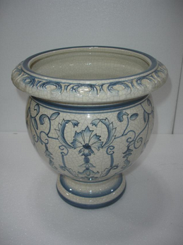 Wholesale Antique hand paint floral vase for home deco