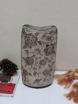Hand painted flower ceramic vases and urns for home deco