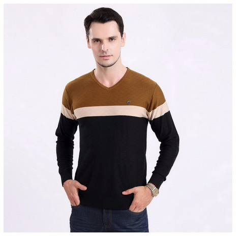 2015 High Quality V Neck Wholesale Cashmere Men's Sweaters Pullover