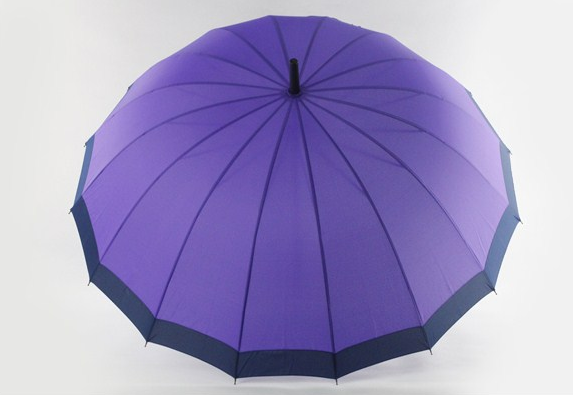 Wholesale high quality 16 ribs purple golf umbrella