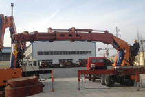 90ton cargo crane truck on truck or boat , Model No.: SQ1800ZB6, crane with hydraulic knuckle boom