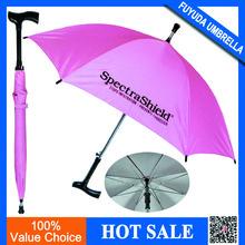 crutch handle umbrella,walking stick rain umbrella,UV protection umbrella