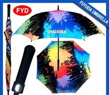 2015 Low MOQ funny lexus multi-color golf umbrella