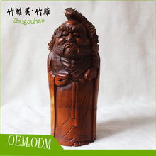 2015 MOQ only one piece figure bamboo carving