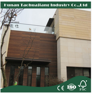 Tao Hua Jiang Strand Woven Outdoor Bamboo Decking Cabonized Color Customized Size