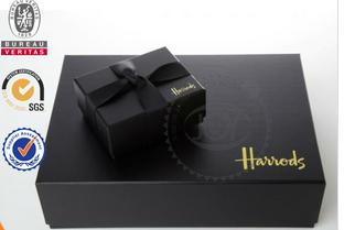 Glossy Strong Black Cardboard Gift box&black gift box&gift box