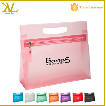 2015 Wholesale toiletry bags women's vanity bag , promotion transparent cosmetic bag