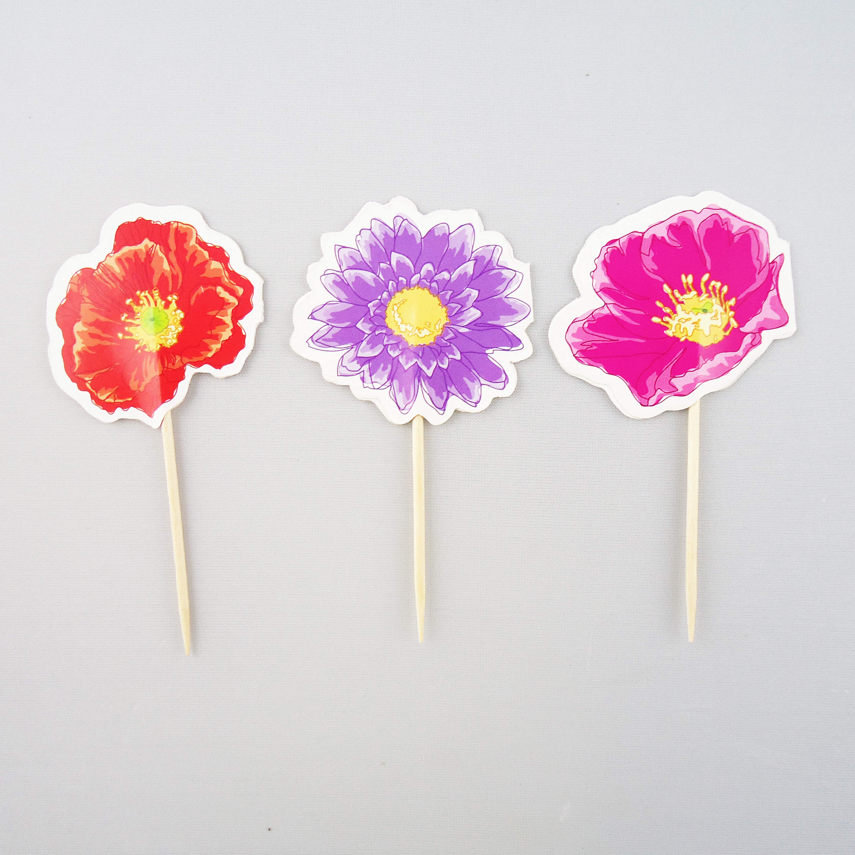 Toothpick with Flower Decorative