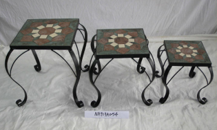 outdoor furniture mosaic metal flower stand wrought iron flower stand