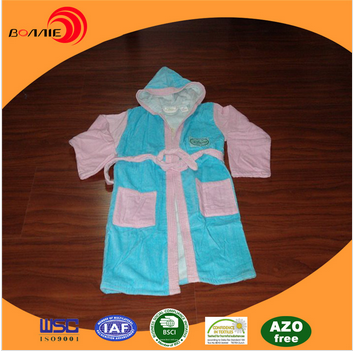 100% cotton children printed bathrobe