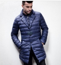 LIGHT DOWN JACKET WIND PROOF FITTING SHAP LONG COAT MAN'S DOWN JACKET