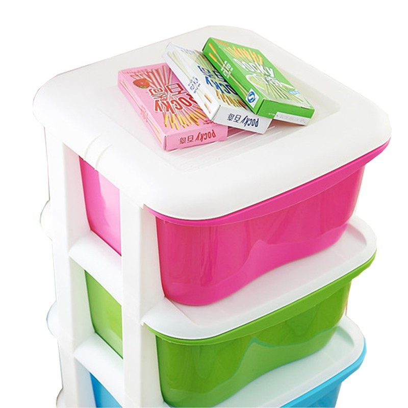 Colorful drawer type storage box