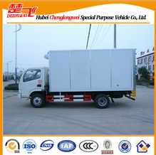 Dongfeng 4*2 16TON heavy duty van refrigerator box truck , food transportation freezer truck