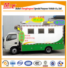 Dongfeng 4X2 mobile food truck for sale moving kitchen truck