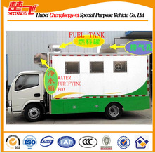 Mobile hot dog truck Dongfeng 4X2 mobile food truck