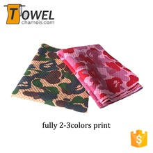 Popular fully print design outdoor camouflage cooling towel