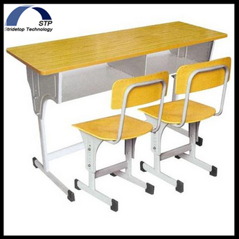 school furniture school double desk and chair for two person