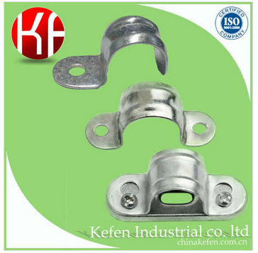 plain conduit saddle clamp, galv pipe clamp, saddles for cable clamps
