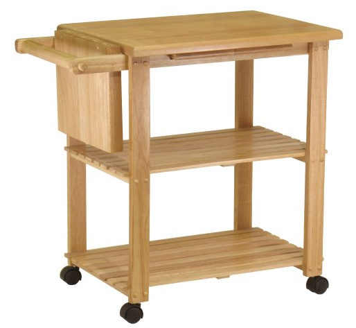 wood Kitchen island with cutting board