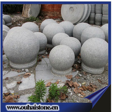 decorative balls natural sesame white polished stone spheres