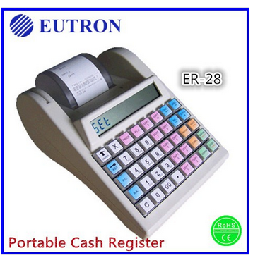 ER-28 fiscal electronic cash register, mini portable fiscal cash register