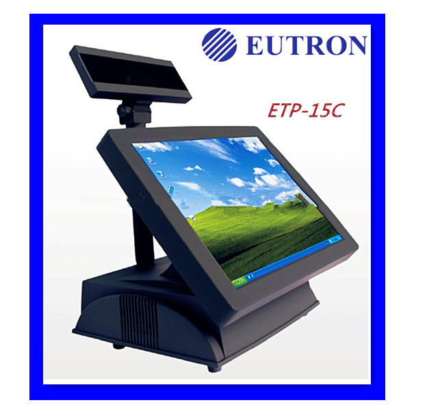 cheap dual core 15'' LCD Touch Screen shop POS cabinet