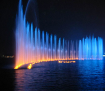 Rectangular Floating Music Fountain