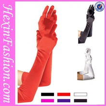 Wholesale Red White Black Hot Sale Long Satin Women Gloves