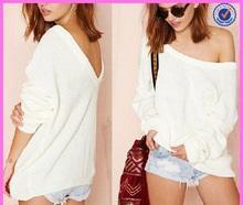 Hexin White Fashion Blouse Sweater Wholesale
