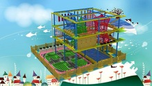 2015 Adventure play equipment shopping mall indoor Ropes Course
