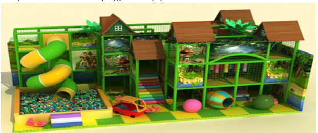 Comprehensive indoor kids playground equipment