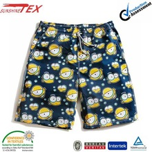 mens cartoon beach wear clothes fabric