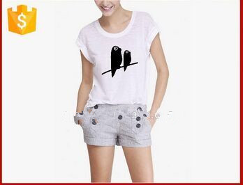 loose new design t shirt cheap screen printig t shirts for women