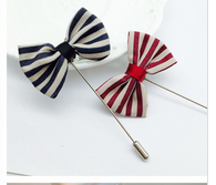 Lates Design Fashion Handmade long needle military bow tie cheap lapel pins