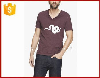v-neck custom printing tshirt for men free t shirts