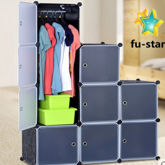 PN cupboard panels plastic kids cute diy bedroom storage shelf units clothes plastic wardrobe cabinet